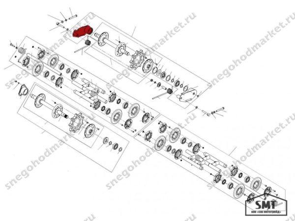 Балансир левый 110200110 схема Буран