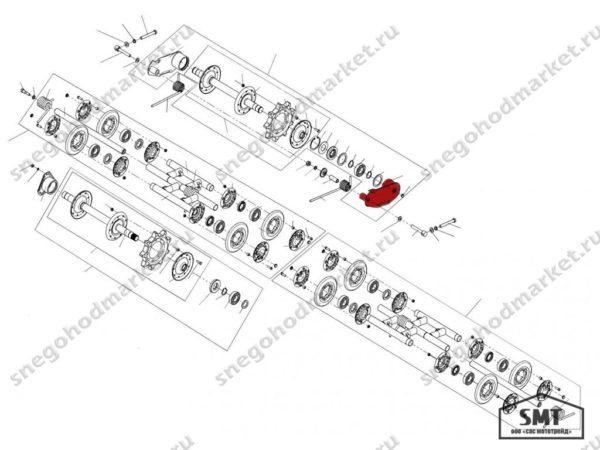 Балансир правый 110200090 схема Буран