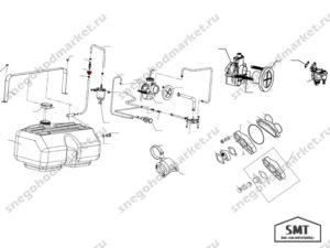 Втулка бензобака 110800047 схема Буран