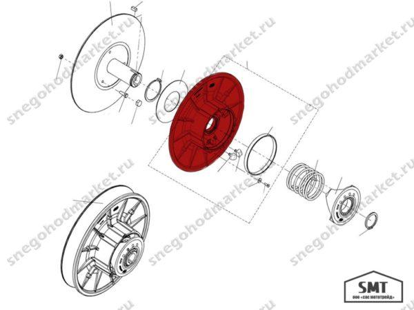 Диск трансмиссии подвижный C40600820 в сборе Тайга