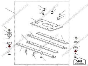 Гайка M10 110100124 схема Буран