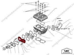 Коллектор впускной C40500214 схема Тайга