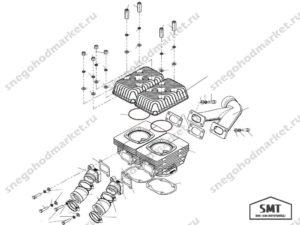 Кольцо уплотнительное C40500039 головки цилиндра Тайга