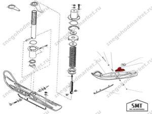 Кронштейн L30300302 пластиковой лыжи схема Тайга