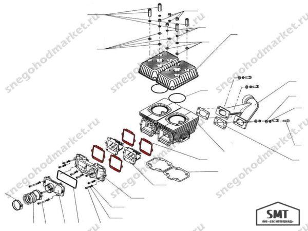 Прокладка K20500016 лепесткового клапана схема Тайга