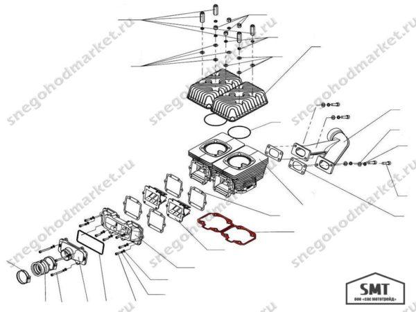 Прокладка C40501111 цилиндра Тайга 550 схема