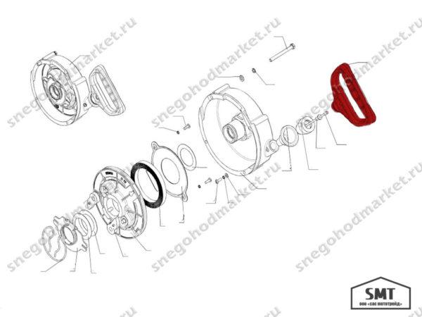 Рукоятка 110501089 схема Буран