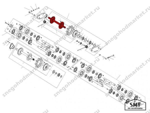 Вал направляющий 110200300 схема Буран
