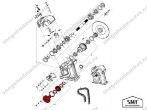 Вал натяжной в сборе 110602670 схема Буран