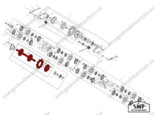 Вал ведущий со звездочками 110200760 схема Буран
