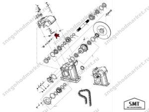 Вилка переключения 110600067 схема Буран