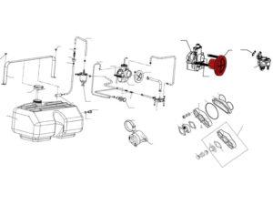 Воздухоочиститель 110501330 для К-65Ж схема Буран