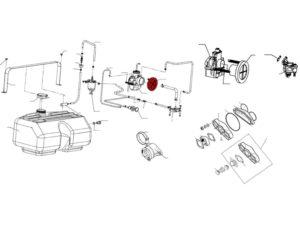 Воздухоочиститель 110502310 для Mikuni схема Буран