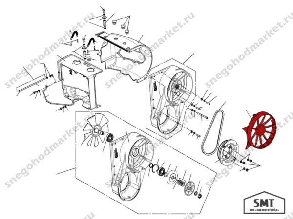 Воздухозаборник 110500214 схема Буран