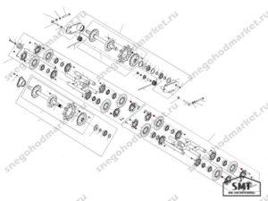 Втулка 110200719 схема Буран