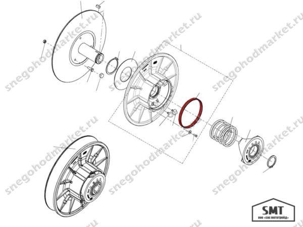 Втулка C40600515 схема Тайга