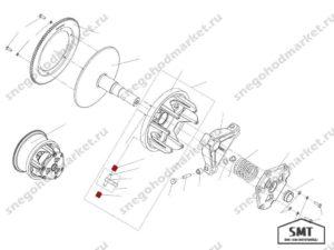 Втулка вариатора Сафари без буртика схема