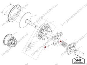 Втулка вариатора Сафари с буртиком схема