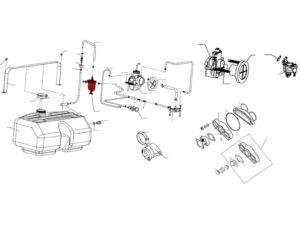Фильтр-отстойник 110800230 схема Буран