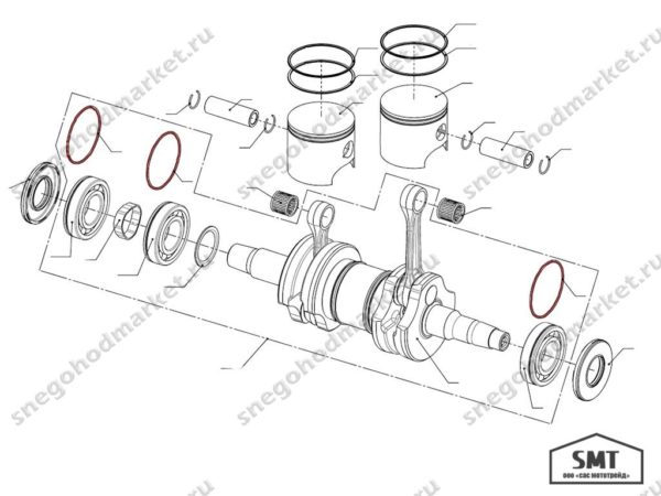Кольцо амортизационное 110500105 схема Тайга