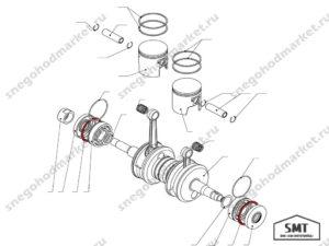 Кольцо стопорное 110500057 схема Буран