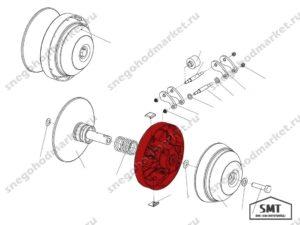 Диск подвижный 110602980 Альпина схема Буран