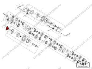Корпус подшипника 110200140 схема Буран