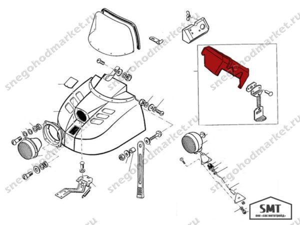 Кожух двигателя 110700133 схема Буран