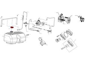 Крышка топливного бака 110800190 схема Буран