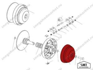 Крышка 140600111 Альпина схема Буран