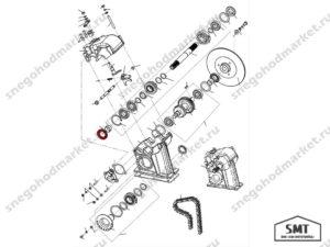 Манжета TC 30x52x7 NBR SMT схема Буран