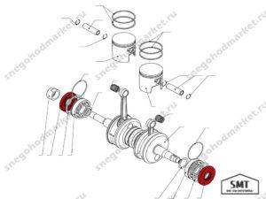 Манжета TC 30x72x10 NBR SMT схема Буран