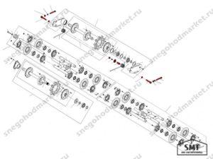 Механизм натяжения гусеницы схема Буран