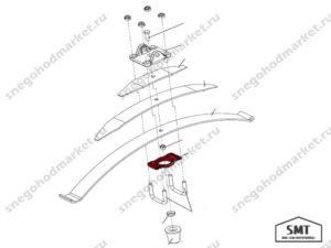 Накладка рессоры 110300029 схема Буран