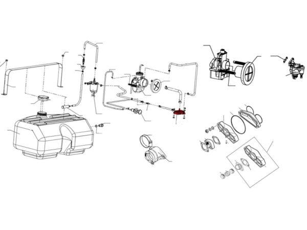 Насос топливный A73D схема Буран