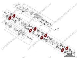 Обод катка 110200108 схема Буран