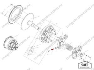 Ось C40600437 ролика Сафари схема Буран
