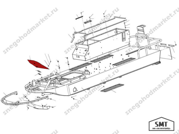 Перегородка 110101210 схема Буран
