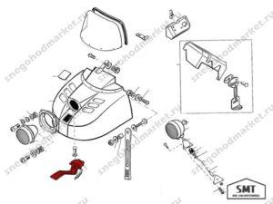Петля шарнирная 110700370 схема Буран