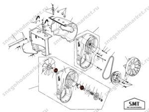Подшипник 6204 2RS P6Q6 схема Буран