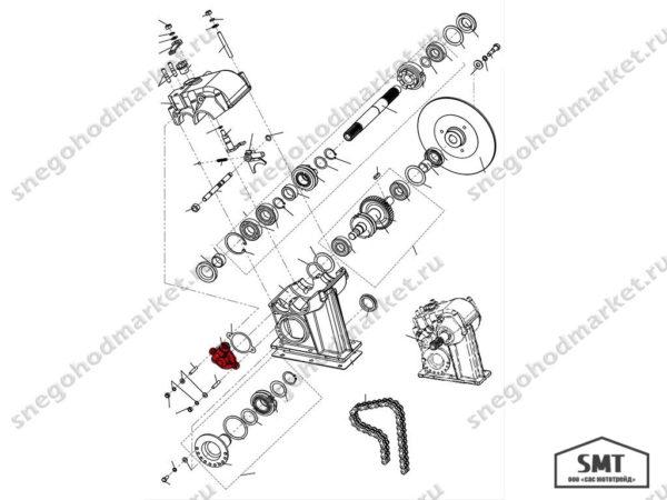 Привод спидометра 110603180 схема Буран