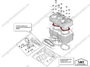 Прокладка 110500080 под головку цилиндра схема Буран