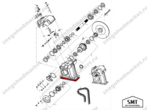 Прокладка 110600075 схема Буран