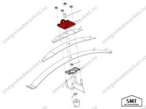 Проушина рессоры 110300028 схема Буран