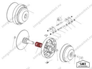 Пружина 110600315 вариатора Альпина схема
