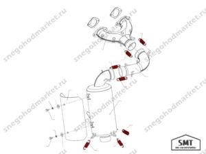 Пружина 140400054 глушителя схема Буран
