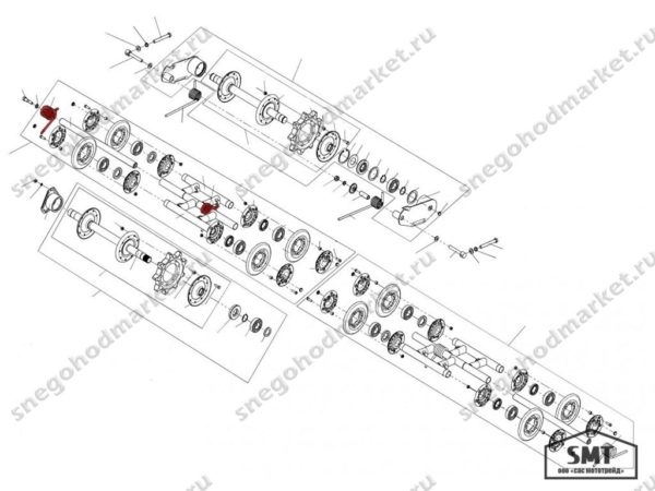 Пружина подвески катков левая 110200142 схема Буран