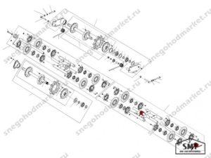 Пружина подвески катков правая 110200148 схема Буран