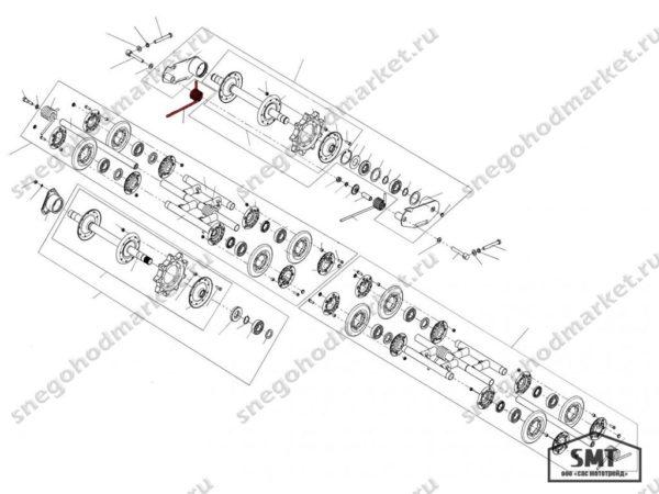 Пружина задней подвески левая 110200139 схема Буран