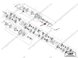 Пружина задней подвески правая 110200141 схема Буран